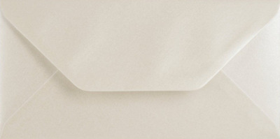 DL PEARL OYSTER WHITE Coloured Envelopes Greeting Card Party Invitation Craft