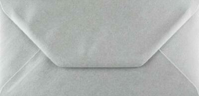 DL Silver Coloured Envelopes 110x220mm Greeting Card Party Invitations Crafts