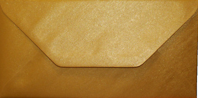 DL Gold Coloured Envelopes 110x220mm Greeting Card Party Invitations Crafts