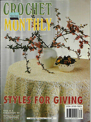 Crochet Monthly magazine # 26 doily table mat cloth cushion Tricot