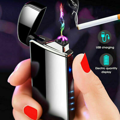 Dual Arc Electric USB Lighter Rechargeable Plasma Windproof Flameless Cigaretter