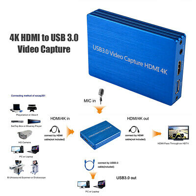 4K HDMI to USB 3.0 Video Capture Card Dongle 1080P 60fps Video Recorder AC2073