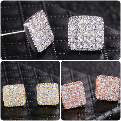 Elegant 925 Silver,Gold,Rose Gold Stud Earrings for Women Jewelry A Pair/set