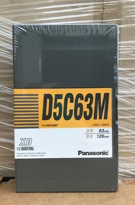 "New Panasonic Aj-D5C63Mp Xd 1/2"" D5C63M Digital Video Cassette"