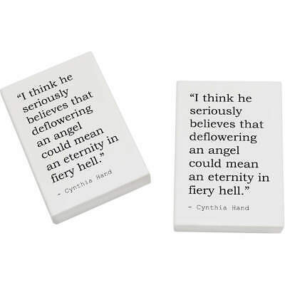 2 x 45mm Quote By Cynthia Hand Erasers / Rubbers (ER00014775)