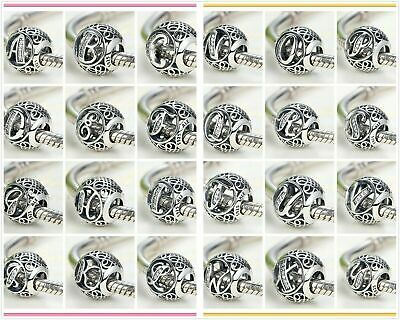 Pandora LETTER (S) Charms 925 Ale Initial Character Alphabet with Pandora Pouch