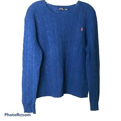 EQUIPMENT  $298 CASHMERE BLEND AMBER CABLE CREW NECK SWEATER  XS