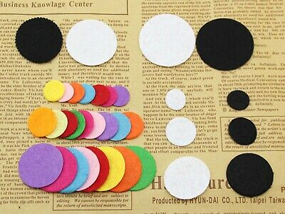 Round Mixed Color Non-woven Circles Felt Pads For Flower,Brooches' Back