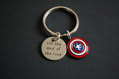 Captain America till the end of the line shield keyring