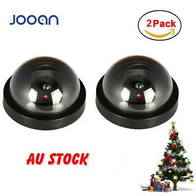 2PCS Dummy Dome Fake Surveillance Security Camera Home CCTV  Flashing Red Light