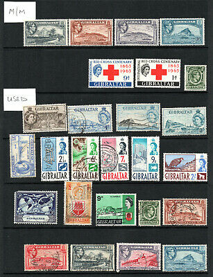 Commonwealth - Gibraltar - Selection X 26 M/M & Used Stamps.