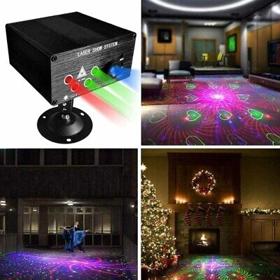 120 Pattern RGB Laser Lamp DJ Projector Decor Light Disco LED Stage Effect Party