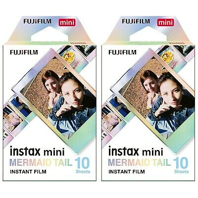 2 Packs 20 Photos Mermaid Tail FujiFilm Fuji Instax Mini Film Polaroid 7S Liplay
