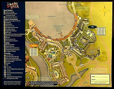 NEW 2020 Walt Disney World Boardwalk Resort Map +5 Theme Park Guide Maps