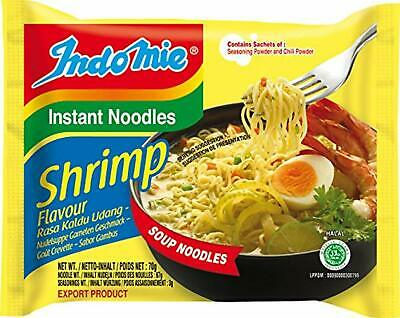 indomie Halal Shrimp Noodles 70 g (Pack of 40)