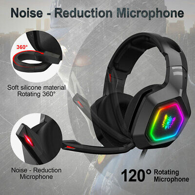3.5mm K10 Gaming Headset LED MIC Headphones for PC Laptop PS4 Pro Xbox One