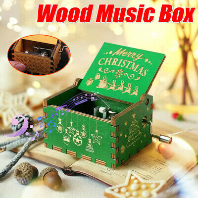 Christmas Wooden Engraved Music Box Gift for Mom / Dad To Daughter / Son Xmas