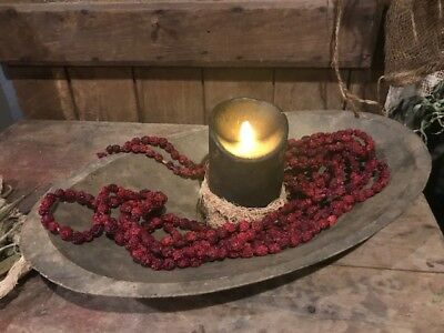Primitive Dried Cranberry Garlands TWO 10 FEET Garlands Early Look Homestead