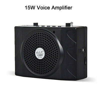 Portable Voice Amplifier with Microphone Speaker Megaphone for Sound Booster UK