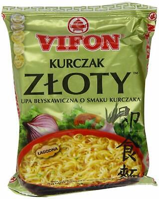 Vifon Golden Chicken Flavour Instant Noodle Soup Mild 70 g (Pack of 24)