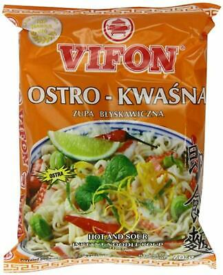 Vifon Hot and Sour Instant Noodle Soup Hot 70 g (Pack of 24)