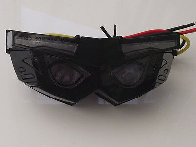 LED rear light transformer smoked lens black case stop and tail light