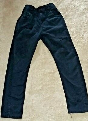 Boy's Twisted & Turn-up Navy Blue Jeans By Next for age 7 yrs Adjustable Waist