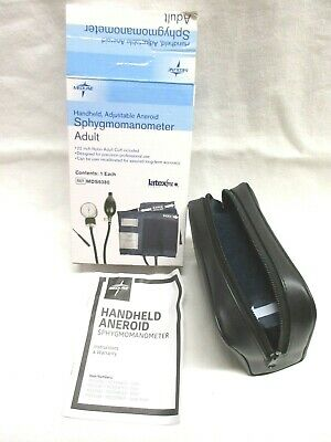 Medline MDS9380 Sphygmomanometer Adult Handheld Adjustable Aneroid