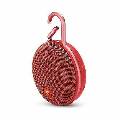 JBL Clip 3 Rechargeable Waterproof Portable Bluetooth Speaker - Red *CLIP3RED