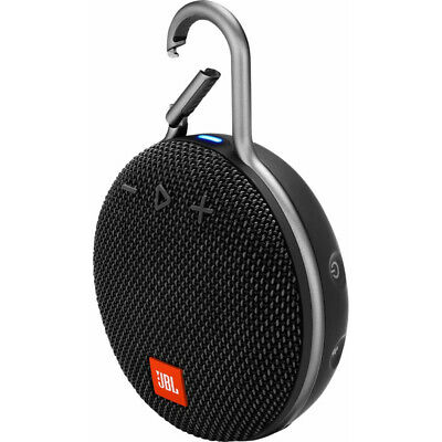JBL Clip 3 Rechargeable Waterproof Portable Bluetooth Speaker - Black *CLIP3BLK
