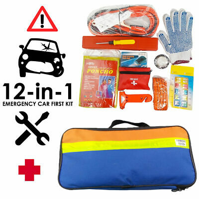 Brookstone Breakdown Car Emergency Roadside Large Kit Set of 12 Pieces