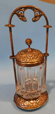 Gorgeous Antique Silverplate Pickle Castor Meridan B. Co 116   Missing 1 Foot