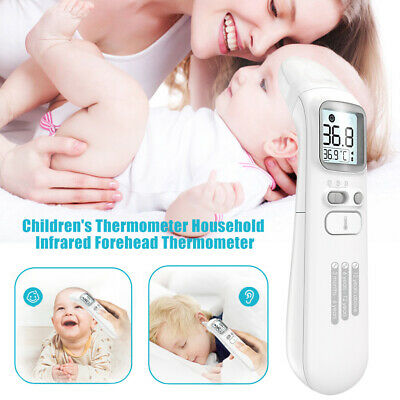 WR_ Digital LCD Infrared Thermometer Forehead & Ear Temperature Checker Adult Ba