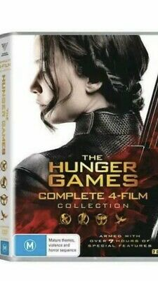 The Hunger Games Complete 4 Film Collection BRAND NEW Region 4 DVD