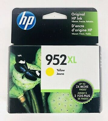HP GENUINE 952XL Yellow Ink for Officejet 8710 8210 8720 8730 SEALED Box 4/2021+