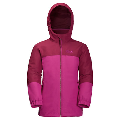 Jack Wolfskin Iceland 3IN1 Jacket Girls Camping Hiking Outdoors