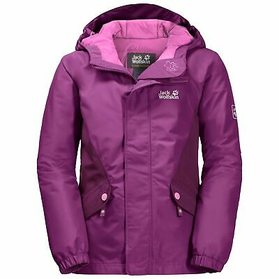 Jack Wolfskin Kajak Falls Jacket Girls Camping Hiking Outdoors