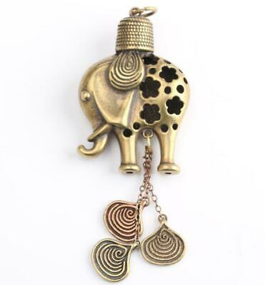 Collection old Asian Antiques brass Exquisite elephant Small pendant Gift
