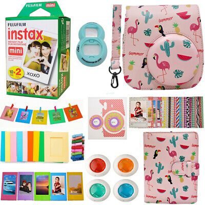 Fujifilm INSTAX Mini Instant 20 Film +Flamingo Camera Accessories Kit For Mini 9