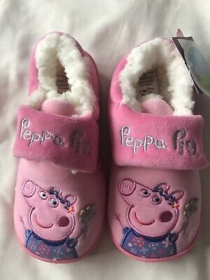 BNWT GIRLS OFFICIAL Peppa Pig CHARACTER Boot SLIPPERS UK SIZE 6-7 Christmas