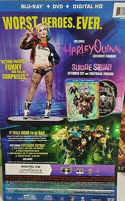 Suicide Squad Blu-Ray With Exclusive Harley Quinn Figurine