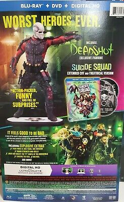 Suicide Squad Includes Deadshot Figurine Blu-Ray Extended Cut