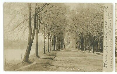RPPC River Street View WEST PITTSTON PA Luzerne County Real Photo Postcard 2