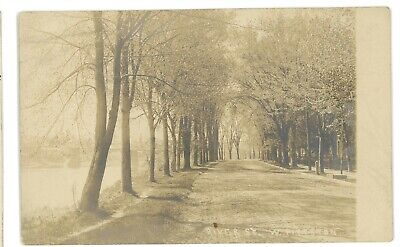 RPPC River Street View WEST PITTSTON PA Luzerne County Real Photo Postcard 1