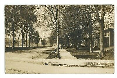 RPPC River St Luzerne Ave WEST PITTSTON PA Luzerne County Real Photo Postcard