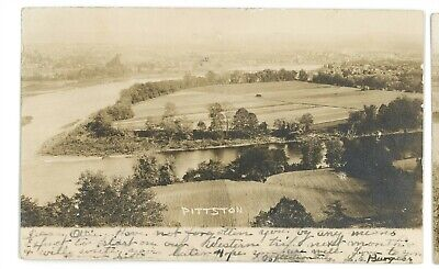 RPPC Coal Mining Aerial of PITTSTON PA Luzerne County Real Photo Postcard 2