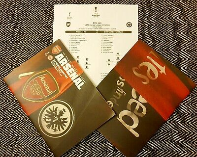 Arsenal vs Eintracht Frankfurt Europa League Programme + Teamsheet 28/11/19!!!