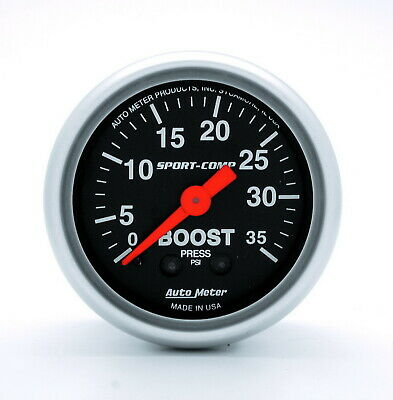 3304 Autometer 3304 Sport Comp Mechanical Boost Gauge