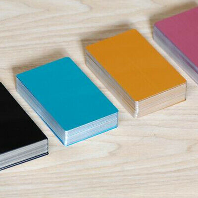 100X 86*54mm Blank Aluminium Metal Business Cards Marks Dye Sublimation Printing