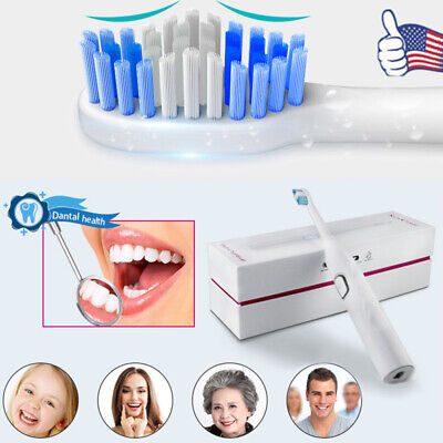 Wellness Oral Care Portable Sonic Electric Toothbrush Rechargeable With 2 Heads